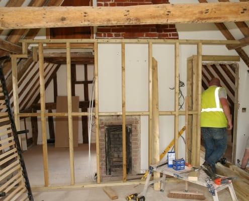 North Lodge - Master Bedroom Stud Walls - work in progress