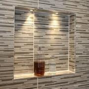 North Lodge - Shower tiled inset with LED lights