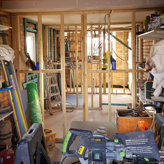 Garage Extension - Stud Walls